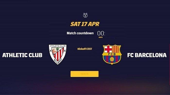 TV Siaran Langsung Live Streaming ATHLETIC BILBAO vs BARCELONA Final Copa del Rey Kick Off 02.30 WIB