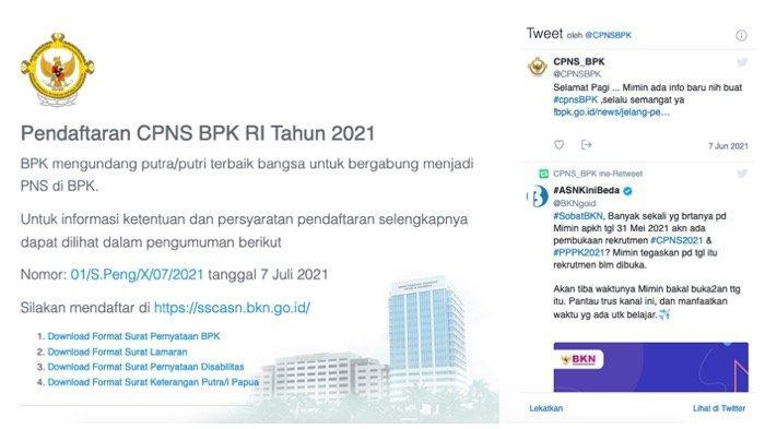 BPK Belum Ada Pelamar CPNS/PPPK 2021