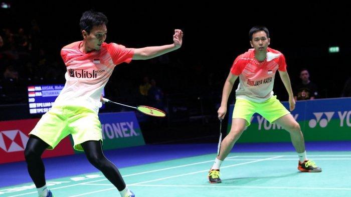 SEDANG BERLANGSUNG Live Streaming Indonesia Open 2019, Ahsan/Hendra vs Takuro Hoki/Yugo Kobayashi