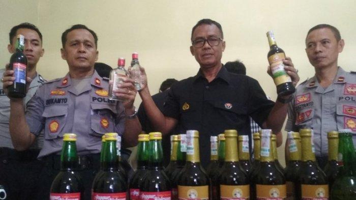 Polresta Yogyakarta Sita 203 Botol Miras di Lima Lokasi