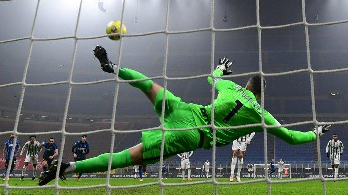 Skor Pemain Juventus vs Inter Milan Semifinal Coppa Italia, Handanovic Mengesankan