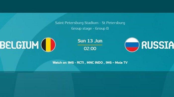 Siaran Langsung BELGIA vs RUSIA Piala Eropa (EURO) Dini Hari Ini Tayang di Channel Tv Ini
