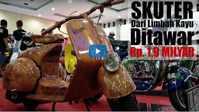 VIDEO: Skuter dari Limbah Kayu Ditawar Rp1,9 Miliar