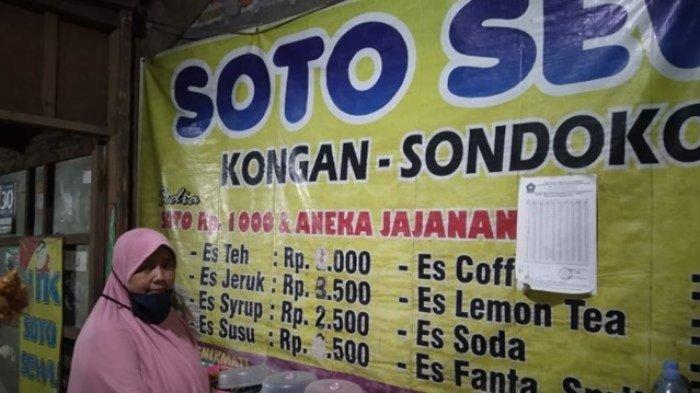Dwiningsih (45) pemilik soto Sewu di Karanganyar.