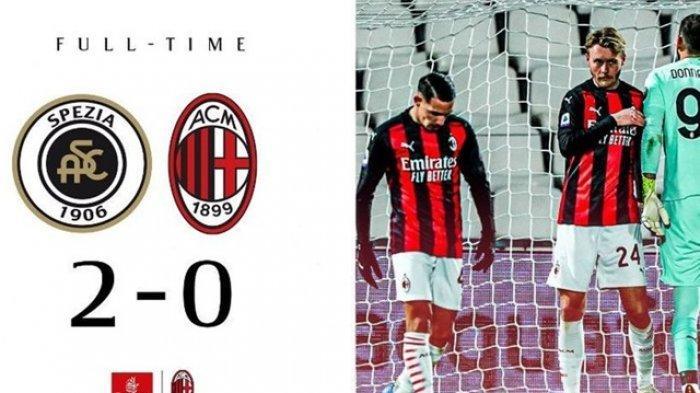 Hasil Pertandingan Liga Italia : AC Milan Takluk dari Tim Promosi, Juventus Tumbang Atas Napoli