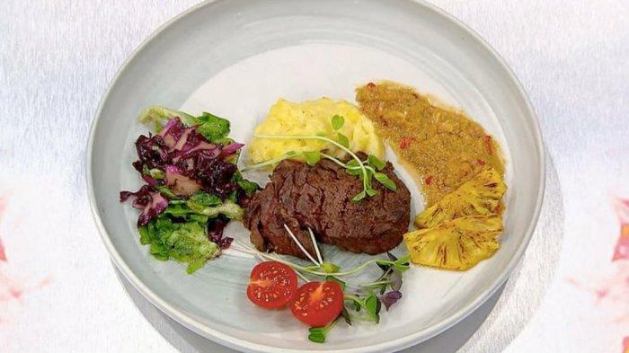 Steak Daging Saos Nanas buatan Febs