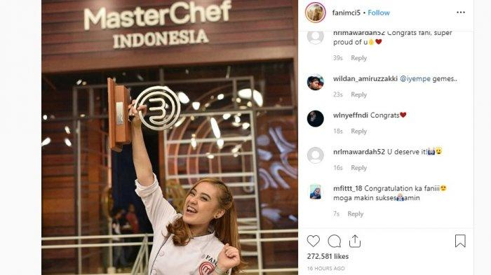 Fani yang Tak Jadi Unggulan Malah Jadi Juara MasterChef Indonesia, Semua Berawal Jualan di Kampus
