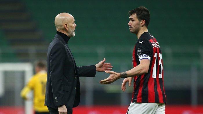 Stefano Pioli dan Alessio Romagnoli AC Milan