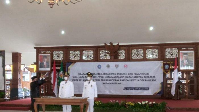 Muchammad Nur Aziz - M Mansyur Resmi Jabat Walikota dan Wakil Walikota Magelang