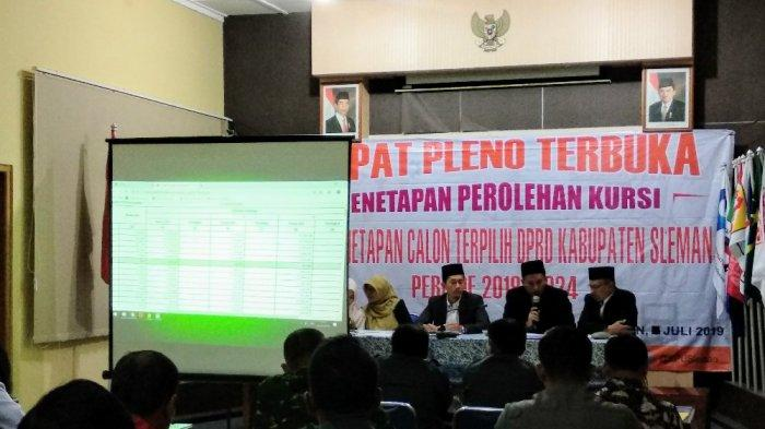 KPU Sleman Tetapkan 50 Anggota DPRD, PDI-P Mendominasi Jumlah Kursi