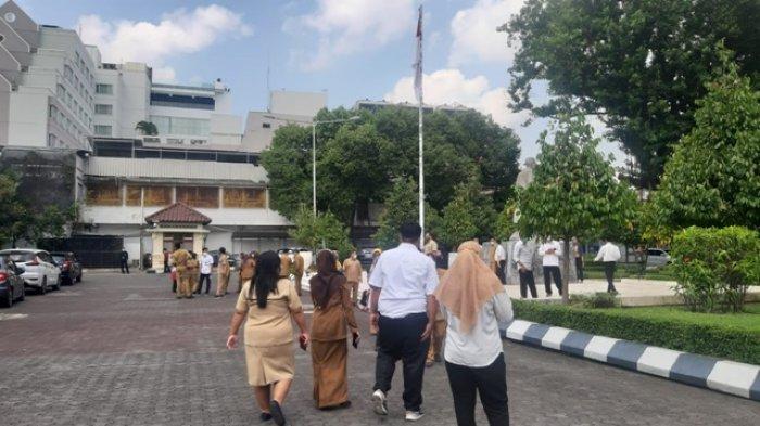 Hari Kesiapsiagaan Bencana, Sejumlah Pegawai DPRD DIY Berlarian Saat Gelar Simulasi