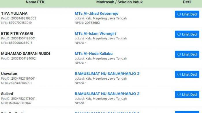 Subsidi Gaji Guru Madrasah non PNS Cek Simpatika.kemenag.go.id