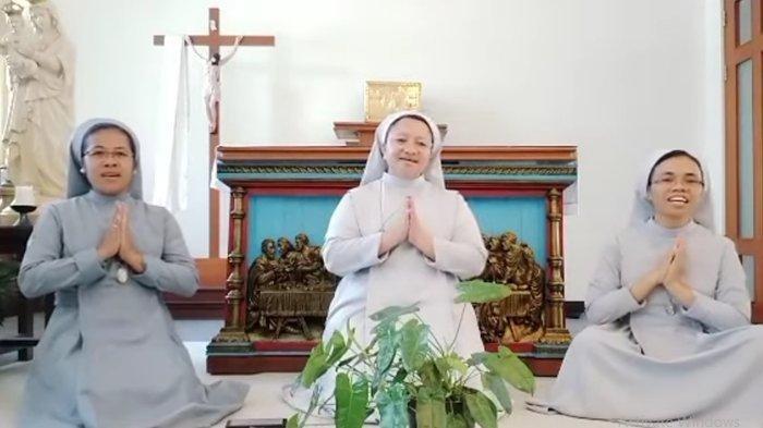 Video Viral Suster Katolik Nyanyikan Lagu Idul Fitri, Warganet: Adem Banget!
