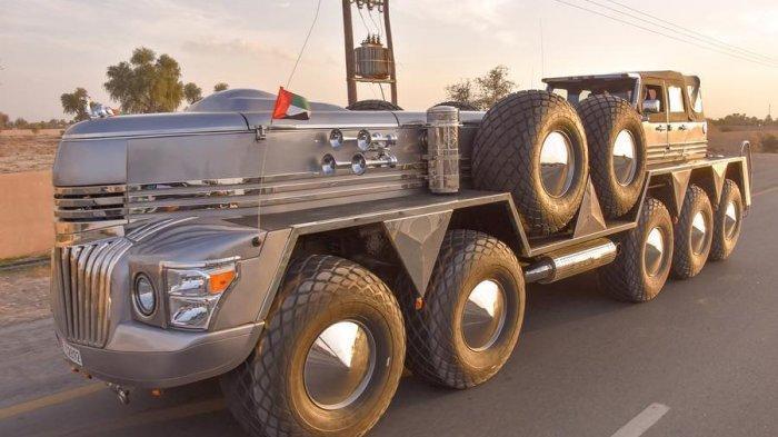 Wow! Inilah SUV Terbesar di Dunia, Gabungan Truk Militer dan Jeep Milik Syeikh Arab