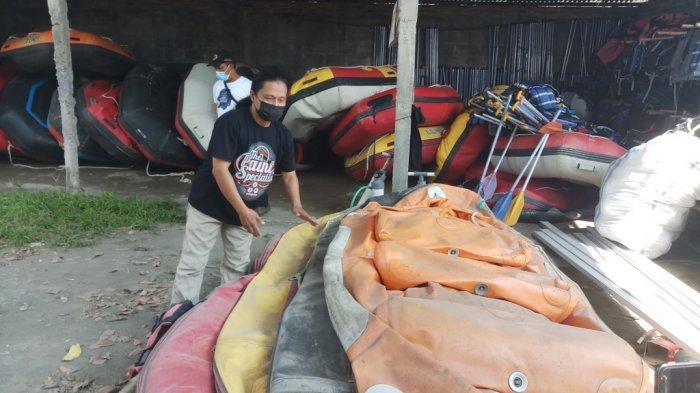 Tak Ada Aktivitas Wisata Selama Pandemi, Perahu Rafting di Magelang Rusak Digigit Tikus