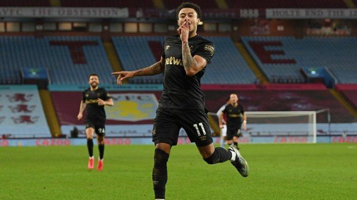 Jesse Lingard berseragam West Ham United