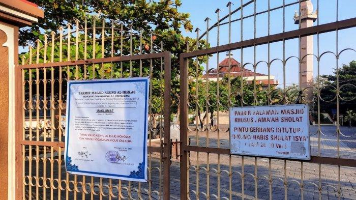 Tak Gelar Salat Iduladha, Masjid Agung Al-Ikhlas Wonosari Tutup Gerbang