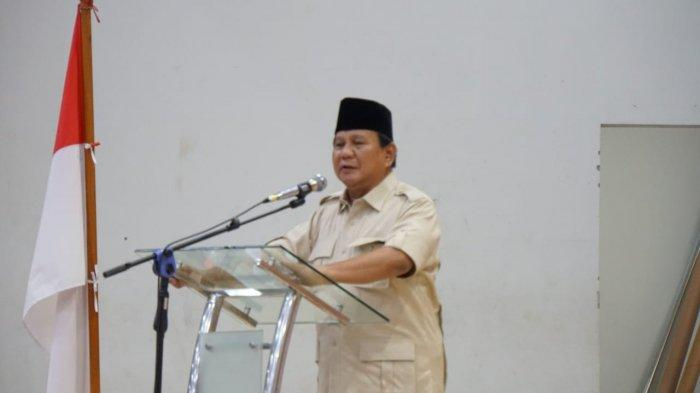 DOK Ilustrasi - Prabowo Subianto saat menghadiri Silahturahmi Bersama Warga Muhammadiyah, Rabu (28/11/2018)