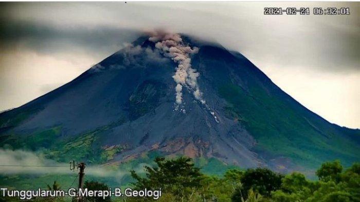 Penjelasan BPPTKG Yogyakarta Kondisi Gunung Merapi Setelah Keluarkan Awan Panas Guguran