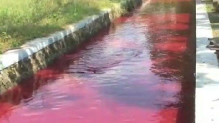 Uji Labfor Keluar, Polres Klaten Segera Paparkan Penyebab Air Irigasi di Wonosari yang Berubah Merah