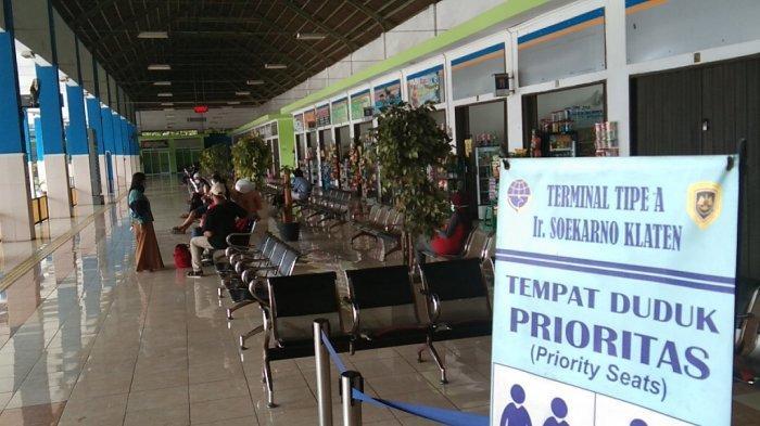 Imbas Larangan Mudik Lebaran, Terminal Ir Soekarno Klaten Sepi Penumpang