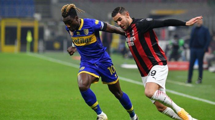 Theo Hernandez di Liga Italia Serie A AC Milan vs Parma
