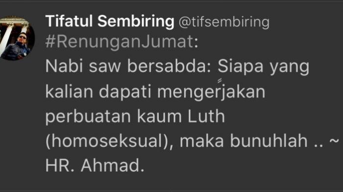 Tulis Hadist Tapi Dibully, Tifatul Sembiring Kemudian Hapus Tweet ini