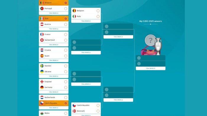Belgia berhasil mengalahkan Portugal pada babak 18 Besar Euro 2020 dengan skor 1-0, Senin (28/6/2021)