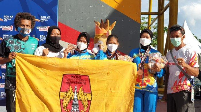 Tim Panjat Tebing DIY Raih Medali Perunggu di PON XX Papua