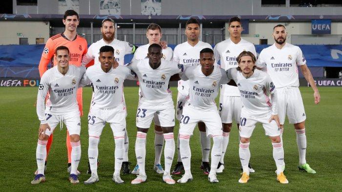 Tim Real Madrid vs Borussia Monchengladbach di Liga Champions