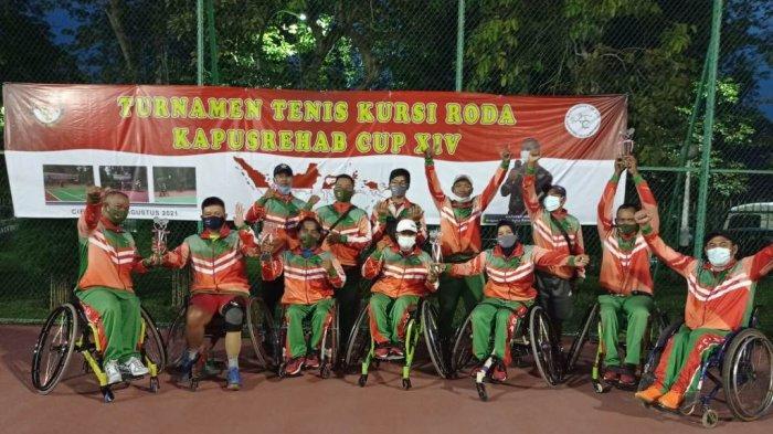 Tim Tenis Kursi Roda DIY Raih Juara 1 di Turnamen Kapusrehab Cup XIV 2021