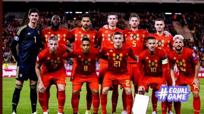 Susunan starter pemain timnas Belgia pada laga versus San Marino dalam lanjutan kualifikasi Euro 2020 di Koning Boudewijnstadion, 10 Oktober 2019.