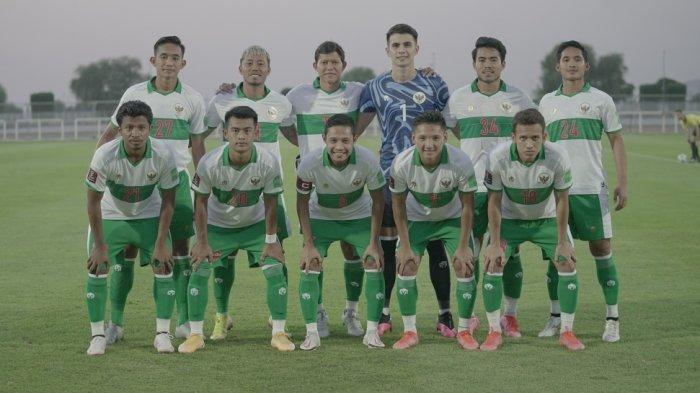 Timnas Indonesia yang bakal berlaga di putaran kedua Grup G Kualifikasi Piala Dunia Zona Asia di UEA.