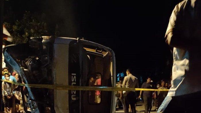 Satu Lagi Korban Meninggal Laka Tunggal Truk Pembawa Batu Dipulangkan dari RS Panti Rini