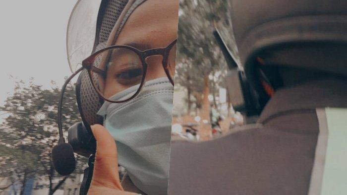 Tukang Ojek Ini Viral Gara-gara Alat Komunikasi yang Dipasang di Helm