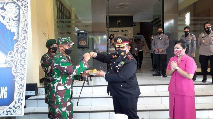 Turut Dihadiri TNI, Perayaan HUT Bhayangkara Polres Magelang Berlangsung Sederhana