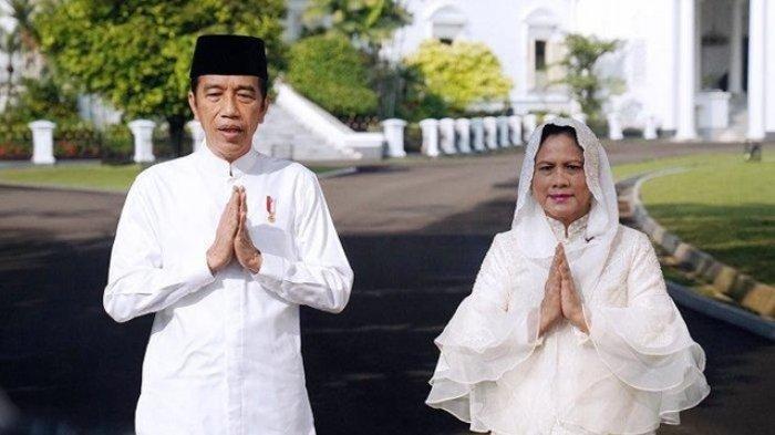 Presiden Joko Widodo (Jokowi) dan Ibu Negara Iriana Jokowi mengucapkan selamat Hari Raya Idul Fitri 1442 Hijriah.