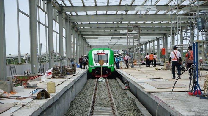 Jalur Rel KA Bandara YIA Memasuki Diuji Cobakan