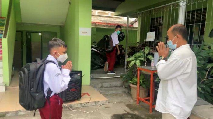 Uji Coba PTM Hari Pertama di SD Negeri Serayu, Sekolah Minimalisasi Kerumunan