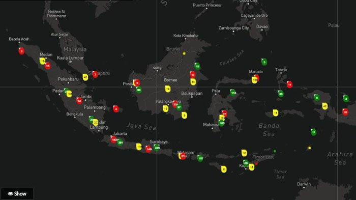 Inilah Daftar Wilayah Zona Merah Covid-19 di Indonesia, DIY Tak Termasuk di Dalamnya