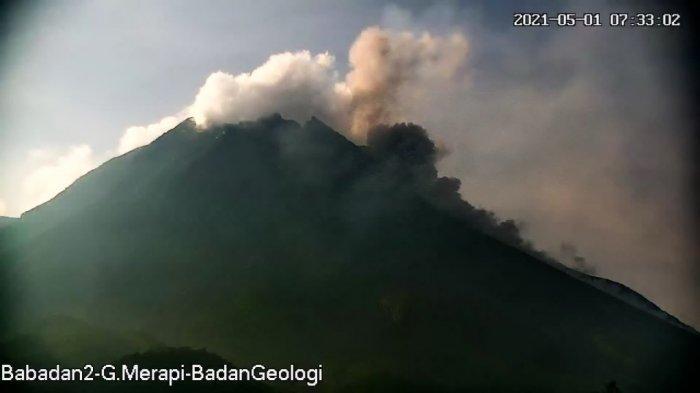 Update Gunung Merapi 1 Mei 2021, Awan Panas Guguran Berjarak 1,3 Km Meluncur Pagi Ini