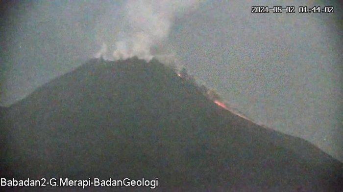 Update Gunung Merapi 2 Mei 2021, Awan Panas Guguran Meluncur Sejauh 1,5 Km Dini Hari Tadi