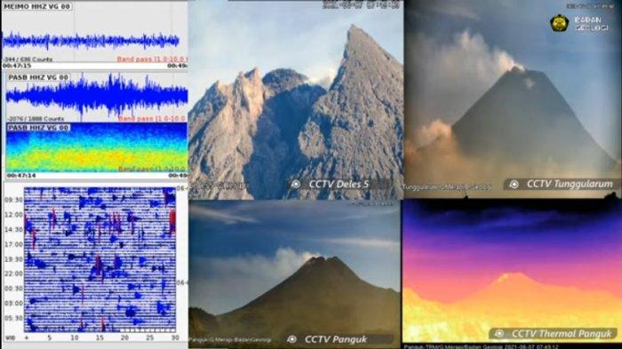 Update Gunung Merapi 7 Juni 2021, Guguran Lava Pijar Meluncur 7 Kali Berjarak Maksimal 2 Km