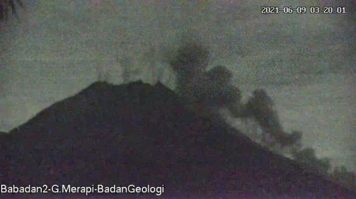 Update Gunung Merapi 9 Juni 2021, Awan Panas Meluncur dengan Jarak 1500 Meter Menuju Barat Daya