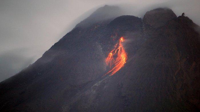 Aktivitas Gunung Merapi Pagi Ini: 5 Kali Guguran Lava Pijar dengan Jarak Luncur Maksimum 800 Meter