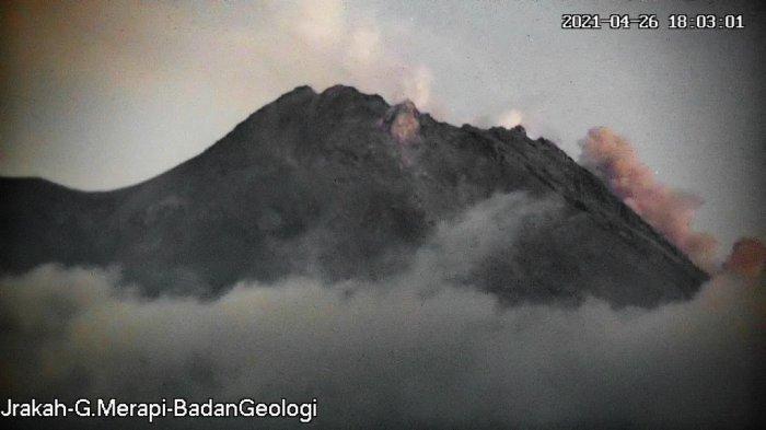 UPDATE Gunung Merapi Pagi Ini Rabu 28 April 2021, Guguran Lava Pijar Terjadi 2 Kali