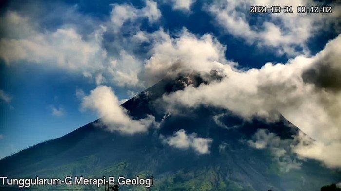 Update Gunung Merapi Pagi Ini Rabu 31 Maret 2021, Terjadi Awan Panas Guguran dan 16 Kali Lava Pijar