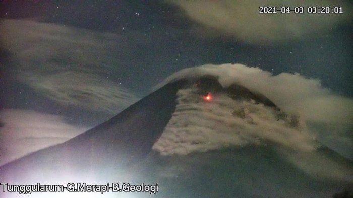 Update Gunung Merapi Pagi Ini Sabtu 3 April 2021, Awan Panas Guguran Meluncur Sejauh 1.300 Meter