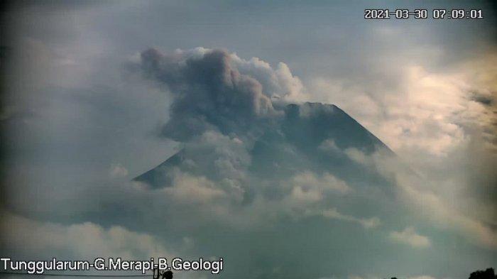 Update Gunung Merapi Pagi Ini Selasa 30 Maret 2021, Awan Panas Guguran Meluncur Sejauh 1,5 Km