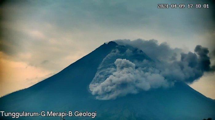 UPDATE Gunung Merapi, 12 Kali Luncurkan Lava Pijar, Jarak Luncur Maksimal Sekitar 900 Meter